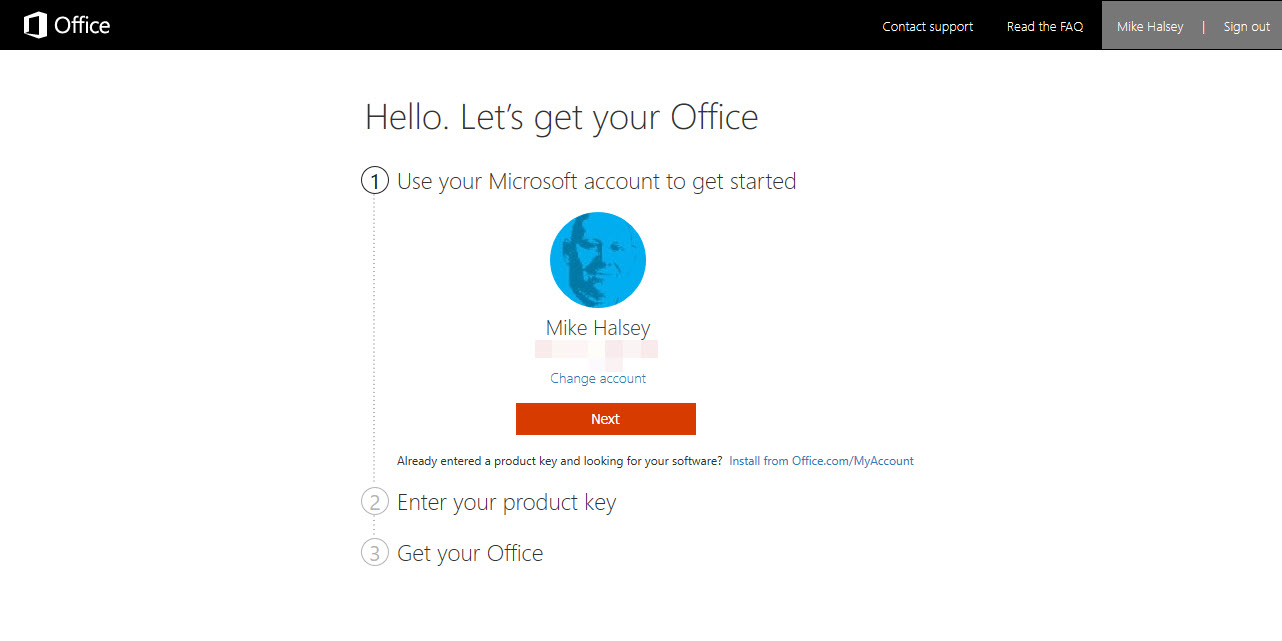 activate office 2019 with product key